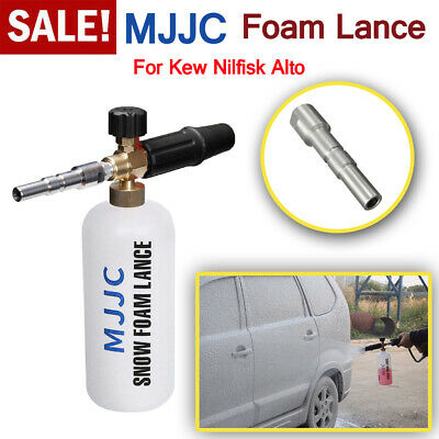 "MJJC Snow Foam Lance 1/4""F Pressure Washer for Nilfisk Kew Quick Alto Clean Car"
