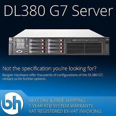 HP Cheap ProLiant DL380 G7, 2x Six (6) Core Xeon, 48GB RAM, P410 2U Rack Server