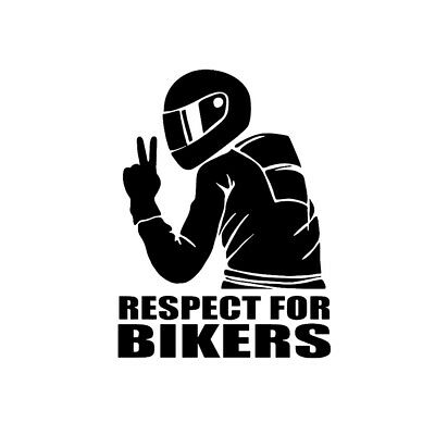 1x Waterproof 7.4inch Respect for Bikers Sticker Car SUV Motorcycle PET Decal