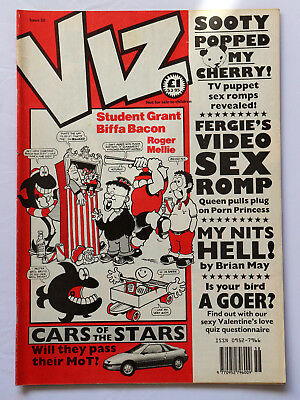 Viz Comic Issue 58 Cars of the Stars Sooty Valentines Love Quiz Ages 18+