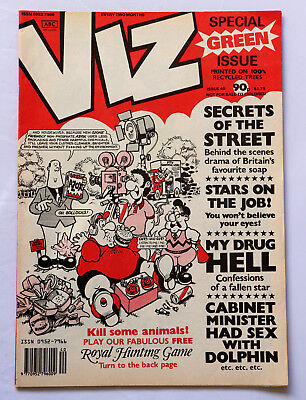 Viz Comic Issue No.40 Cabinet Minister Had Sex with a Dolphin Green Issue