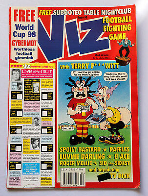 Viz Comic Issue 90 Free World Cup 98 Cybermot Worthless Gimmick Adult Ages 18+