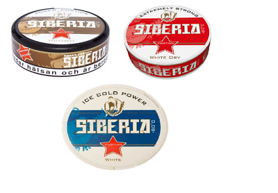 Siberia Probierset (3 Dosen) Red / Blue / Brown Chewing Bags / Snus