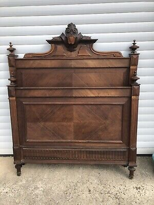 Antique Vintage Rosewood French Single Bed
