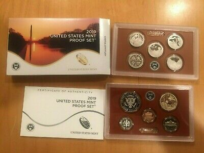 2019 S US Mint Proof Set  - 10 Coins No Extra W Cent
