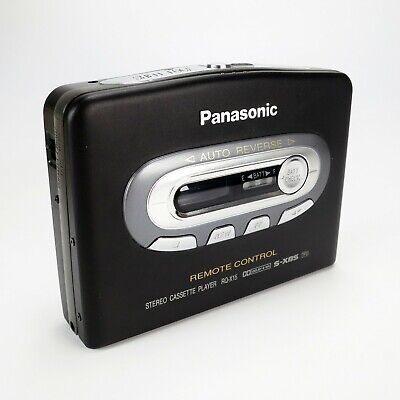 Panasonic RQ-X15 Black Stereo Cassette Player Dolby Remote Control - New In Box