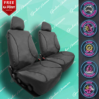 HOLDEN STATESMAN RED//BLACK LEATHER CAR FRONT SEAT COVERS VINYL ALL OVER SEAT