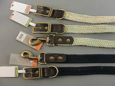 Tommy Bahama Pets Leash Lead Collar Braided Woven Rope Tan Blue Brown Black Nwt