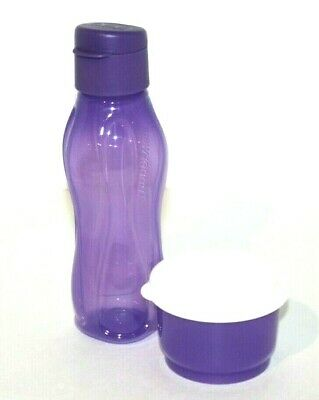 Tupperware Snack Set Eco Bottle Extra Small 10 oz. & Snack Cup 4 oz. Purple