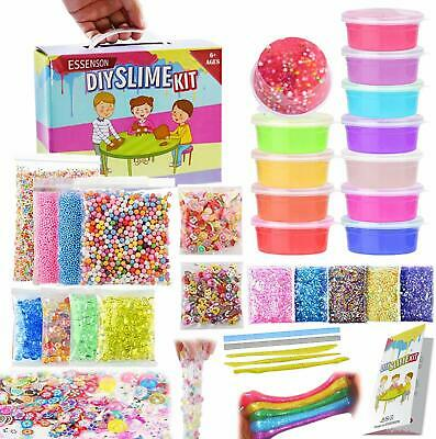 dd07bd227 Slime Kit Supplies Make Your Own Clear Crystal Foam Glitter Making For  Girls Boy