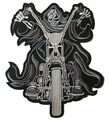 Backpatch écusson patche dorsal dos grande taille la Mort patch motard