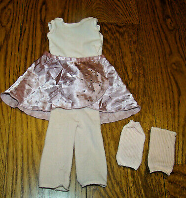 American Girl Marisol Ballet Practice Outfit Pink Leotard Skirt Tights Legwarmer