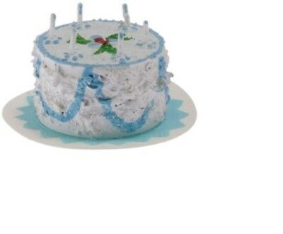 Blue Cake dollhouse Classics Miniatures IM65192 1//12 scale birthday