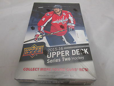 2015-16 Upper Deck Series 2 Hockey Hobby Sealed Box