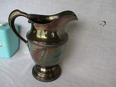 Vintage Viking Silver *  Silverplate Water Pitcher 9 1/2 X  5 1/2
