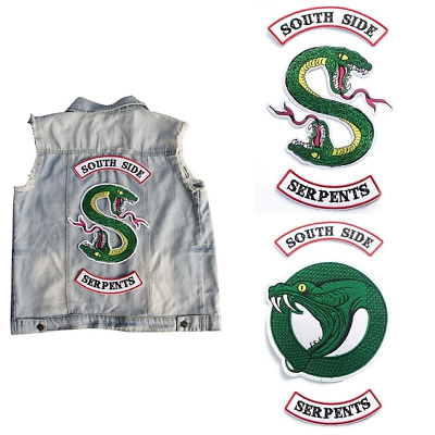 Riverdale South Side Serpents Inspired Embroidered Patch,Southside Iron on patch