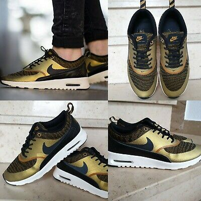 63b2edb195 Nike Air Max Thea Knit Jacquard 718646-700 Bronzine/Black-Sail LIMITED  EDITION
