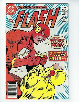 FLASH # 324 (DEATH OF REVERSE-FLASH, Newsstand Variant, Aug 1983), NM