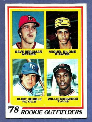 1978 Topps Baseball Card Clint Hurdle Rookie Hi Ex Royals