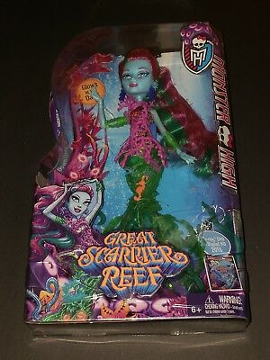 NIB MONSTER HIGH GREAT SCARRIER REEF POSEA REEF DOLL Retired Collectible Goddess