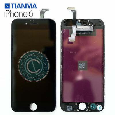 Display Touch Screen Lcd Retina Per Apple Iphone 6 Vetro Schermo + Frame Nero