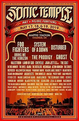 Sonic Temple Festival 3-Day Stadium Pass - Columbus, OH -(3 available) 5/17-5/19