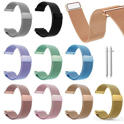 18 20 22mm Milanese LOOP Magnetic Wristwatch Band Strap For Fossil Q Smart Watch