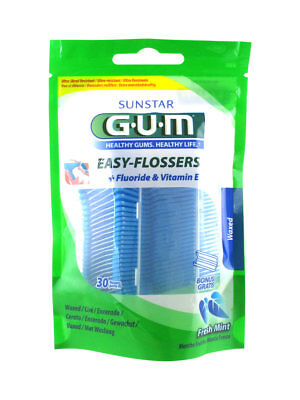 GUM EASY FLOSSERS - 30 forcelle di filo interdentale