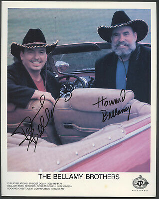 Autographed Promotional Photo by The Bellamy Brothers