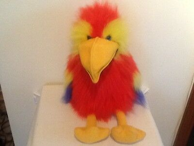 """The Puppet Company Large Squawking Macaw Parrot Full Body Puppet 20"""" Vgc+"""