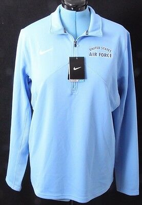 Nike Dri-Fit USAF Air Force 1/4 Zip Training Pullover Jacket Shirt Men's L