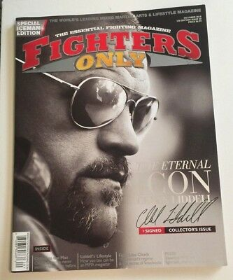 10/2010 FIGHTERS ONLY MAGAZINE - CHUCK LIDDELL ICEMAN Collector's Issue -Signed