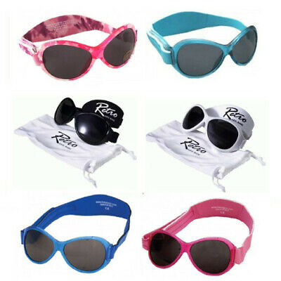 Baby Banz Retro Child Sunglasses with Pouch 0-2 Yr 100% UVA UVB Solar Protection