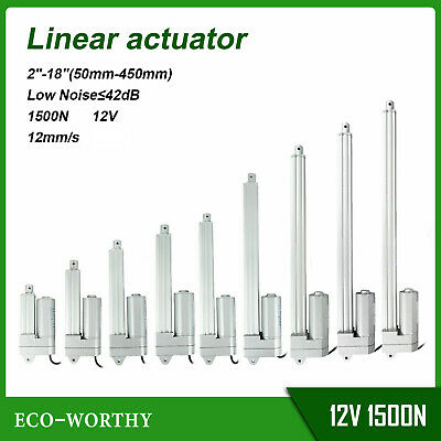 1500N Linear Actuator 12mm/s 50mm-450mm IP54 Low Noise ≤42db for Home Appliances