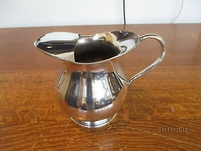 Antique Silver Plated Pitcher Water or Cocktail with Ice Lip Vintage OLD!