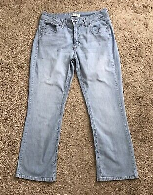 2b7ecbcf RIDERS by Lee Womens Petite Size 10P No Gap Waist Boot Cut Blue Jeans 29