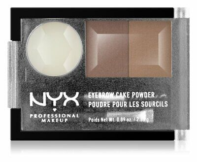 NYX Professional Makeup Eyebrow Cake Powder 2-Shades With Wax 06 Blonde 2.65 g