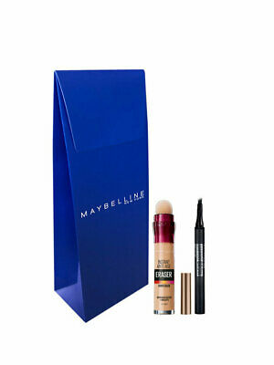 Maybelline Concealer Anti Age Light Core + Eyebrow Crayon Brow Tattoo Makeup Set