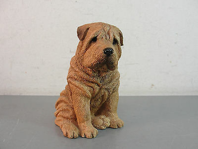 🐾 Shar-Pei Dog Canine Animal Figurine Pet Sandicast Sandra Brue Handpainted 89