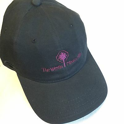 The Westin Mission Hills Black Adjustable Strap Back Ball Cap Black Hat