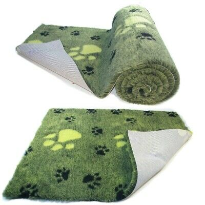 Lime Green  Large BlackPaw  High Grade Vet Bedding Non-Slip back Bed Fleece for