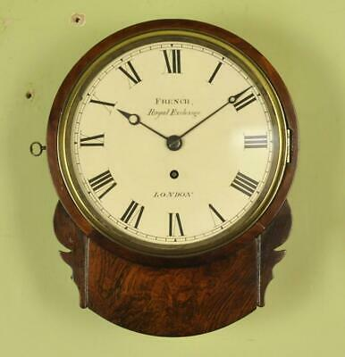 EXCELLENT 8 INCH FUSEE DIAL WALL CLOCK - French of London