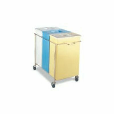 Faribo P434 C/A 3-Compartment Bin Assembly With White Lids