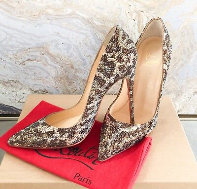 2b2d217a97a Christian Louboutin Pigalle Leopard Strass Crystal Embellished Pump Size 39