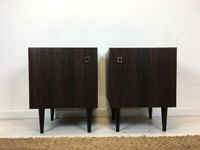 stunning pair of rosewood  Bedside Cabinets / cabinets  Danish Style Midcentury