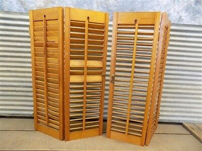 Lot Wood Shutters Victorian Window Louver Plantation Door Mission Vintage a30