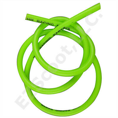 Performance Gas Fuel Line Bright Green 99Cm + 2Clamps Gy6 Scooter Dirt Bike Vip