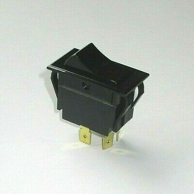 Southbend Range 1177541 Power Switch, Rocker, Black, 4-Prong, DPST, On-Off