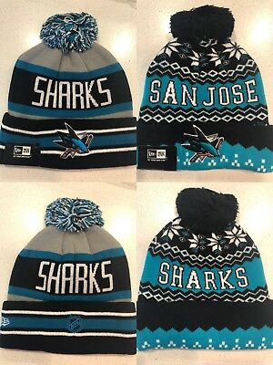 bcb4e94f746 SAN JOSE SHARKS Knit Beanie Toque Winter Hat NEW NHL Face Off Cuffed ...
