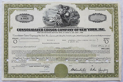 1988 Aktie Consolidated Edison Company of New York, Inc. Energieversorger